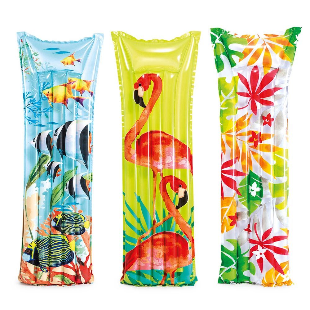 Пляжный надувной матрас INTEX 59720, 183x69 см 3 цвета