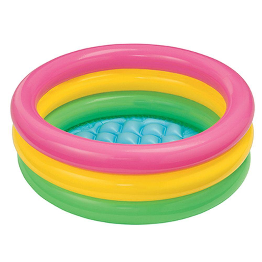 Надувной бассейн для детей INTEX 57107 Радуга 61x22 см от 1 до 3 лет