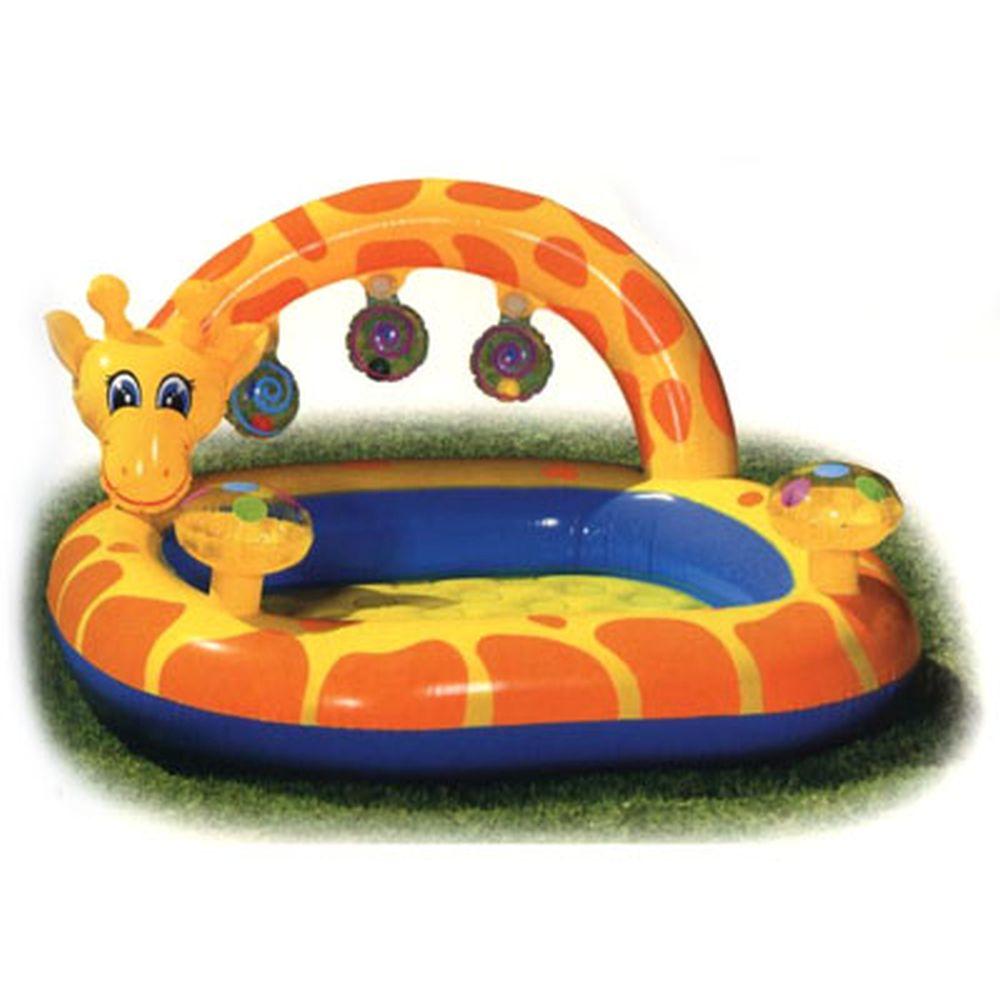 INTEX Бассейн детский Жираф с фонтаном, для 1-3 лет, 112*102*56см, 57404