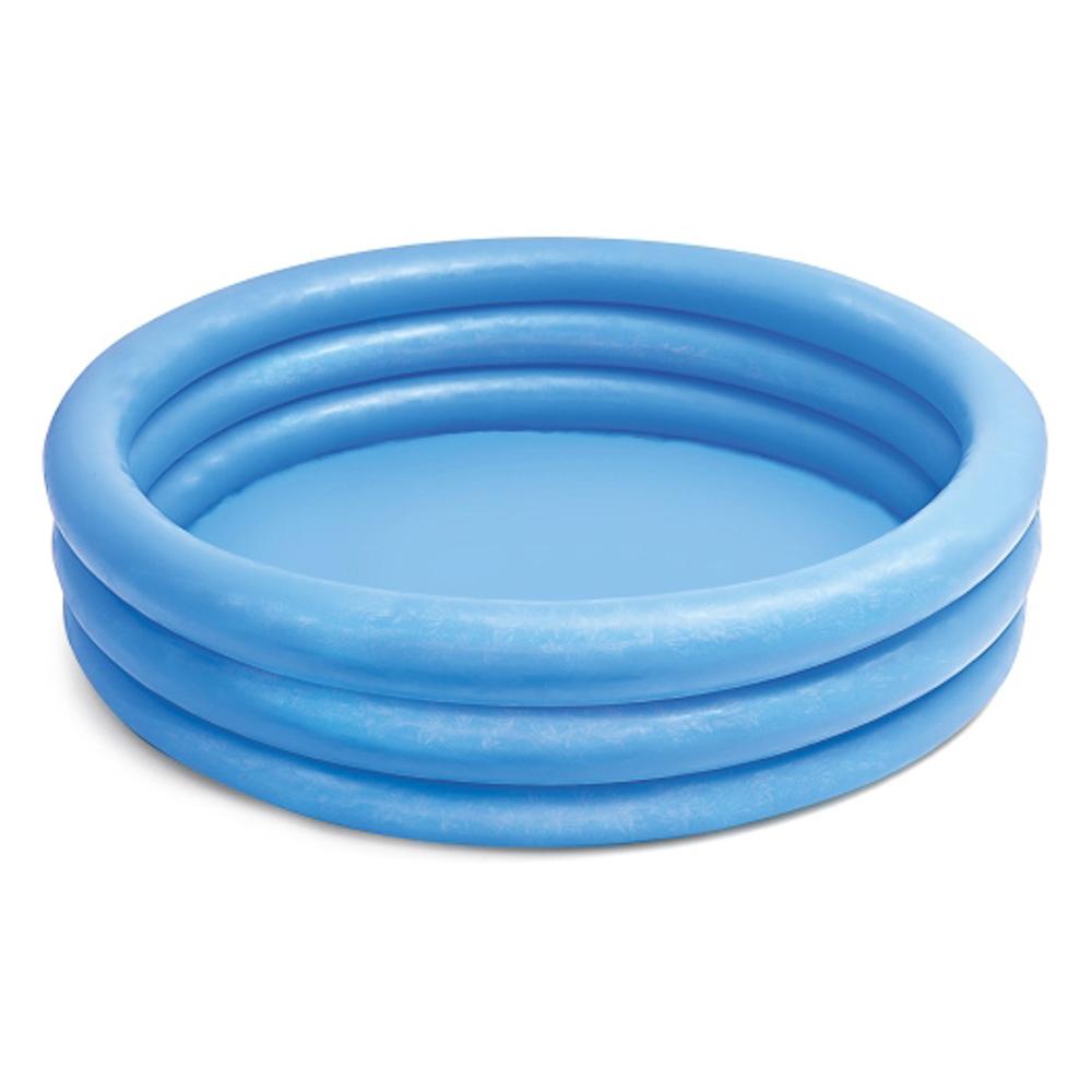 Надувной бассейн для детей INTEX 58426 Кристалл 147x33 см цвет:голубой, от 2 лет