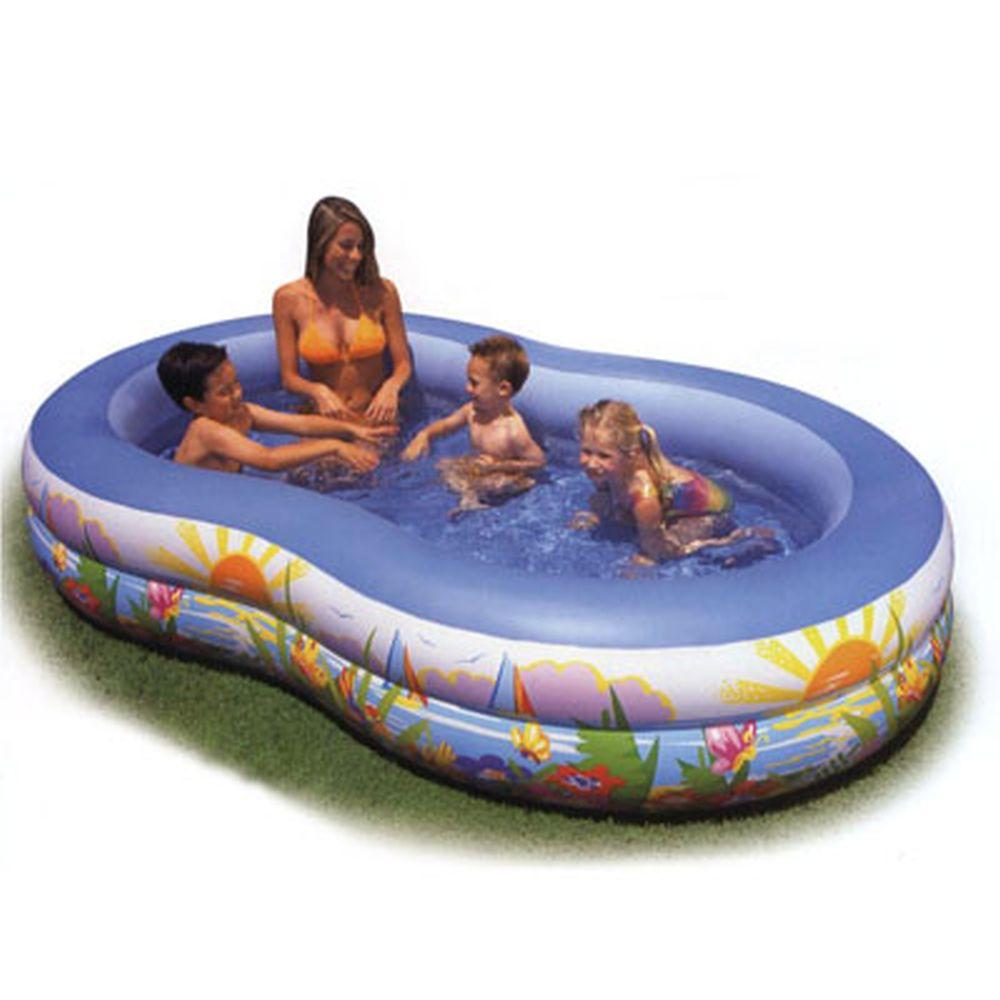 Надувной бассейн для детей INTEX  56490 Лагуна 262x160x46 см от 3 лет