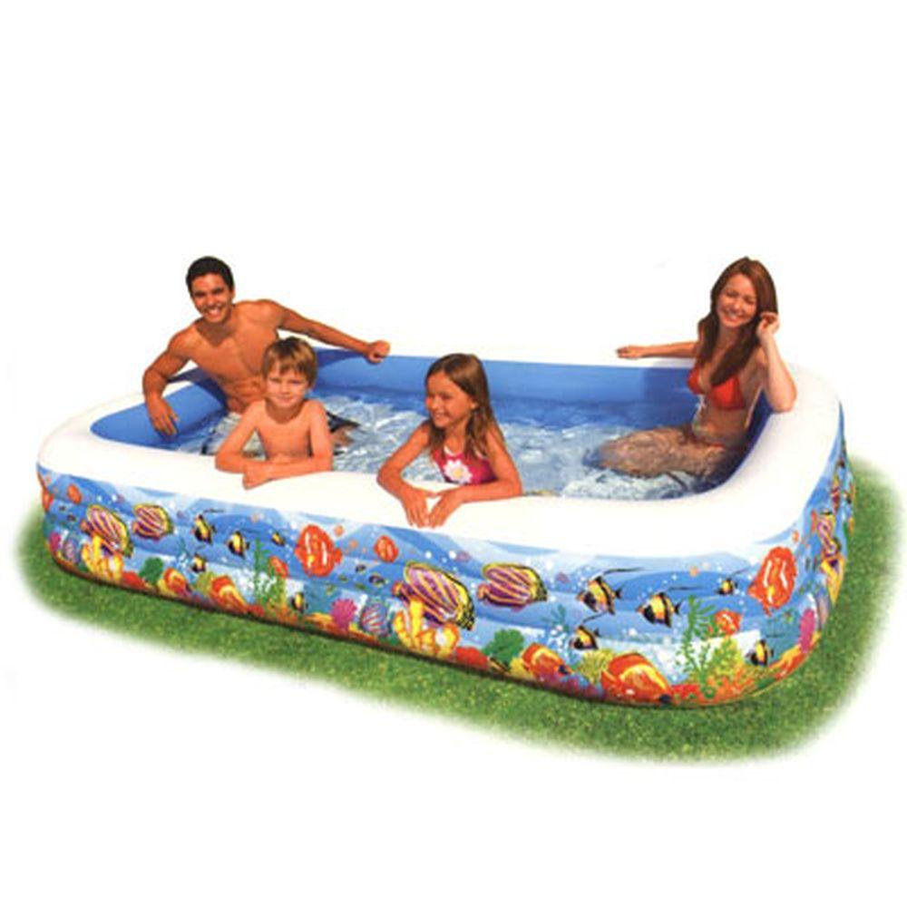 Надувной бассейн для детей INTEX 58485 Тропический риф 305x183x56 см от 6 лет