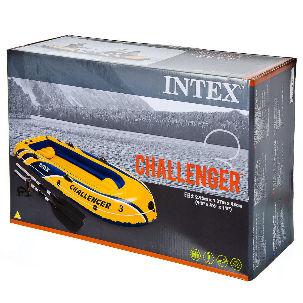 Надувная лодка INTEX 68370 Challenger 2 Set  с аксессуарами до 300 кг