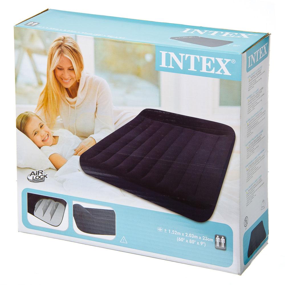INTEX Кровать флок Pillow Rest Classic, 152x203x23см, 66769