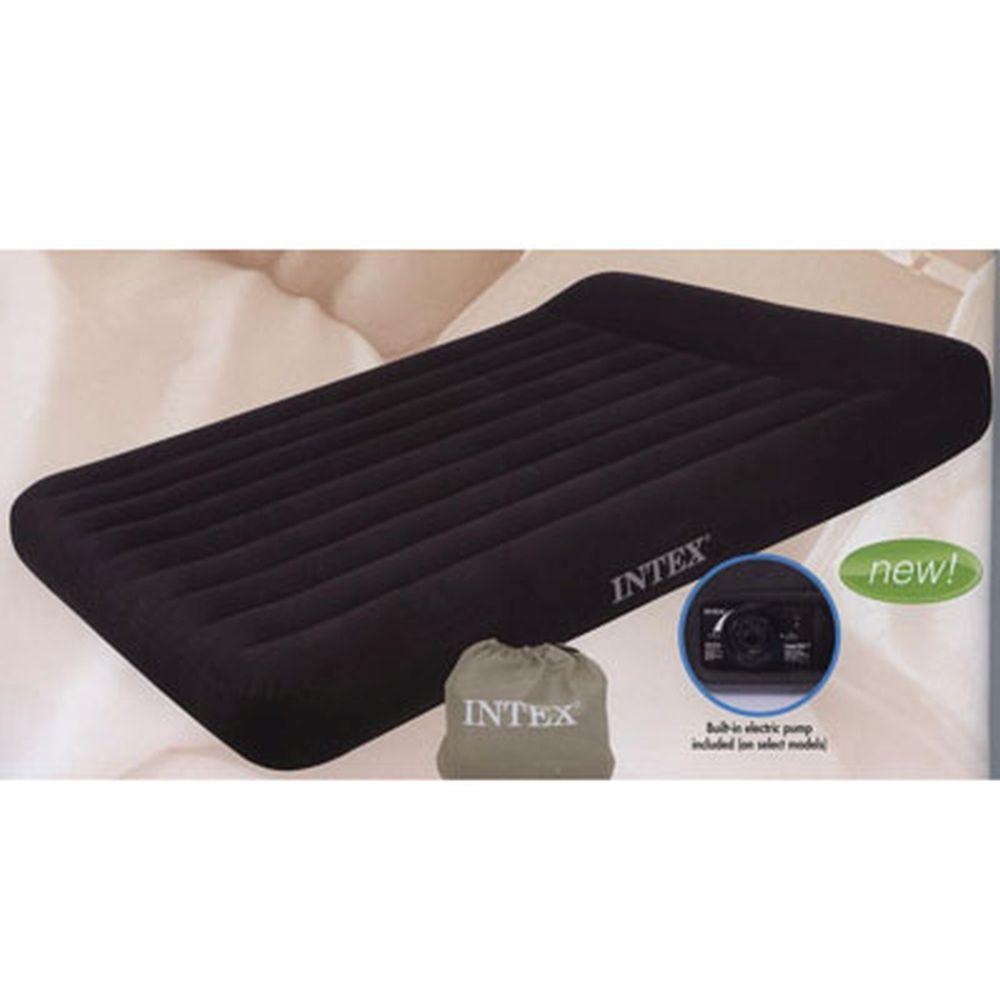 INTEX Кровать флок Pillow Rest Classic, 152x203x23см, встр. элнасос, 66781