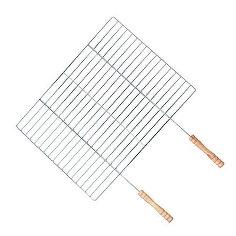 GRILLBOOM Решетка-гриль в виде сетки большая, 40х(30+19)см