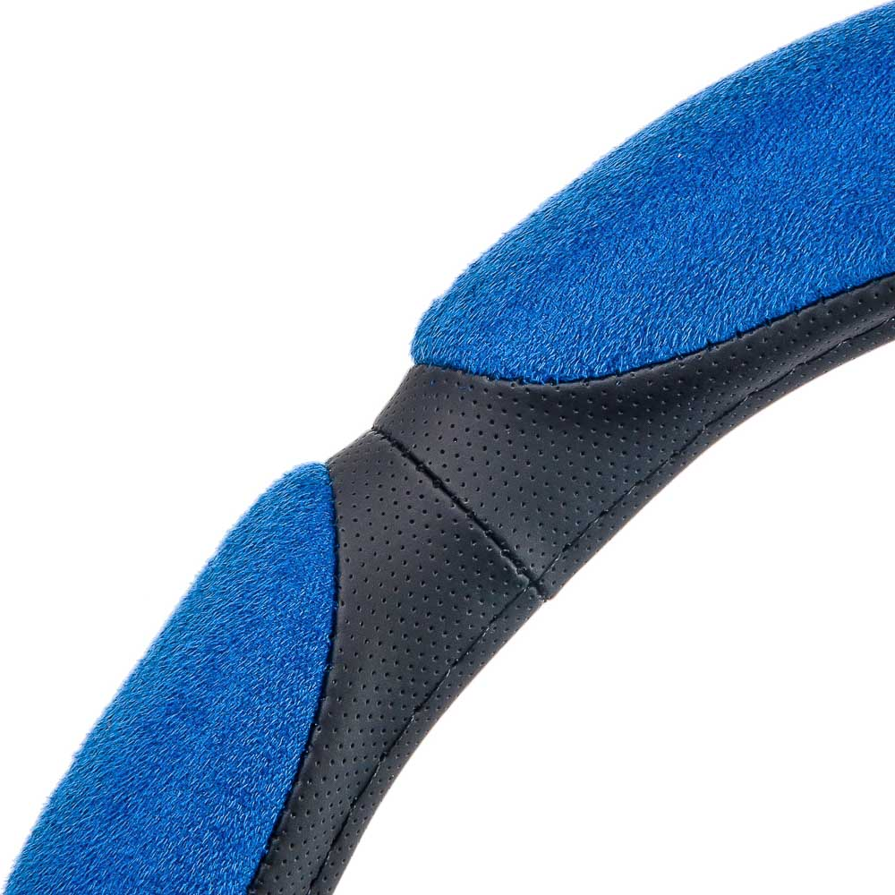 NEW GALAXY Оплетка руля, спонж, 6 подушек, синий, разм. (M)