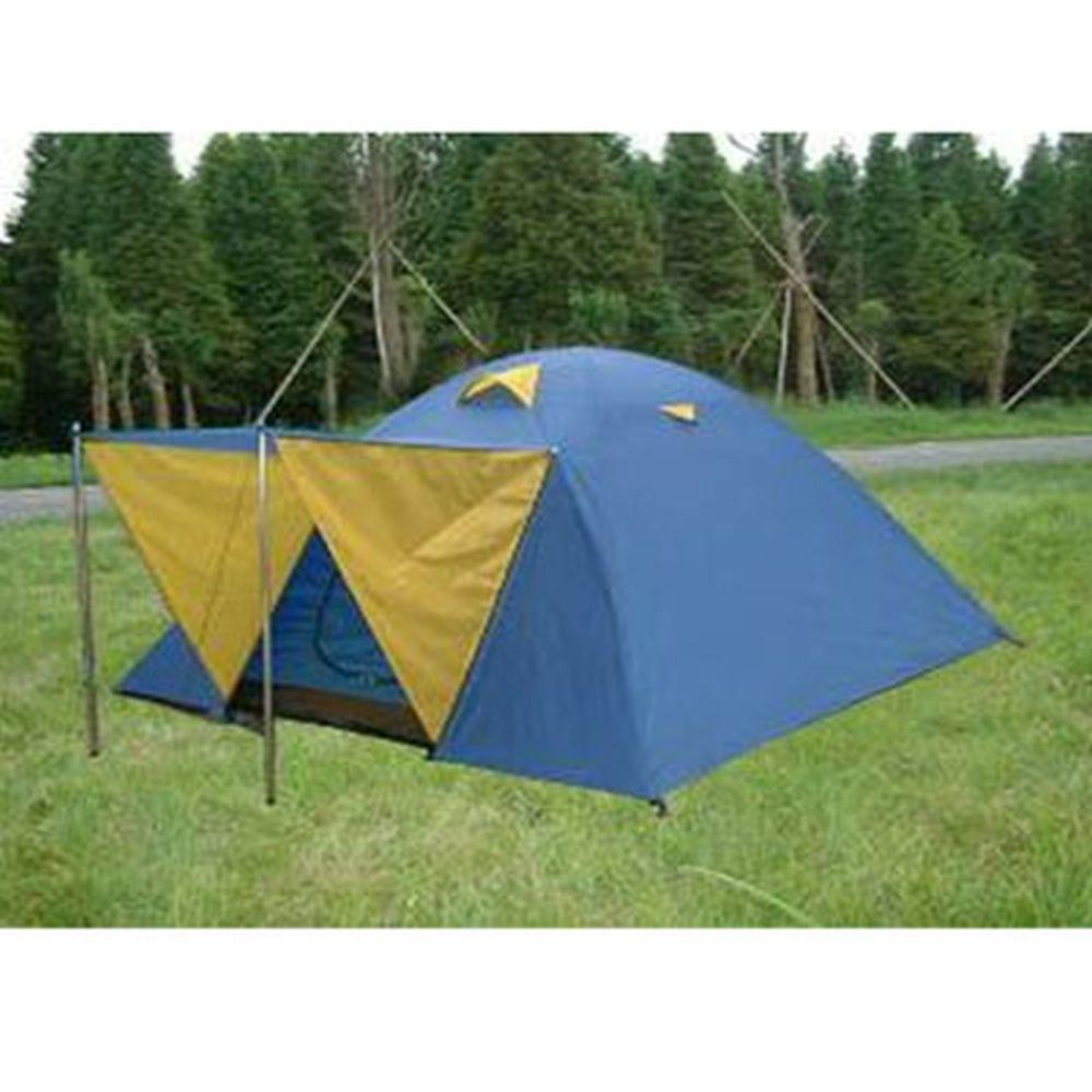 Палатка 4-мест., 2-сл., 210x210x130см, (190 Т PU 800мм/190Т PU800, тр. фб 7,9мм, дн.PE), NX-T025