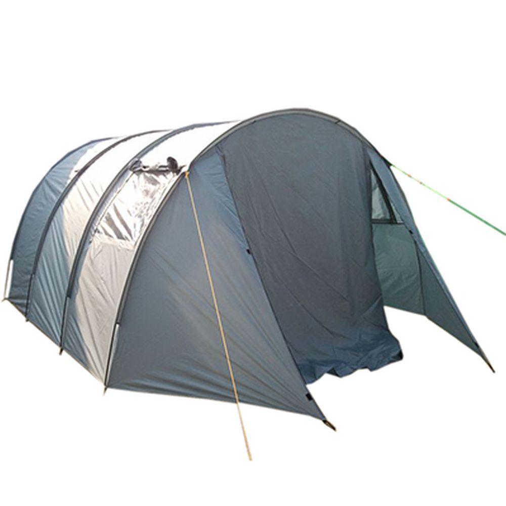 Палатка 5-мест., 2-сл., 2-комн., 510x325x210см (200 Т PU 2000мм/дышащий п/э, тр. фб 11мм), LBT-008