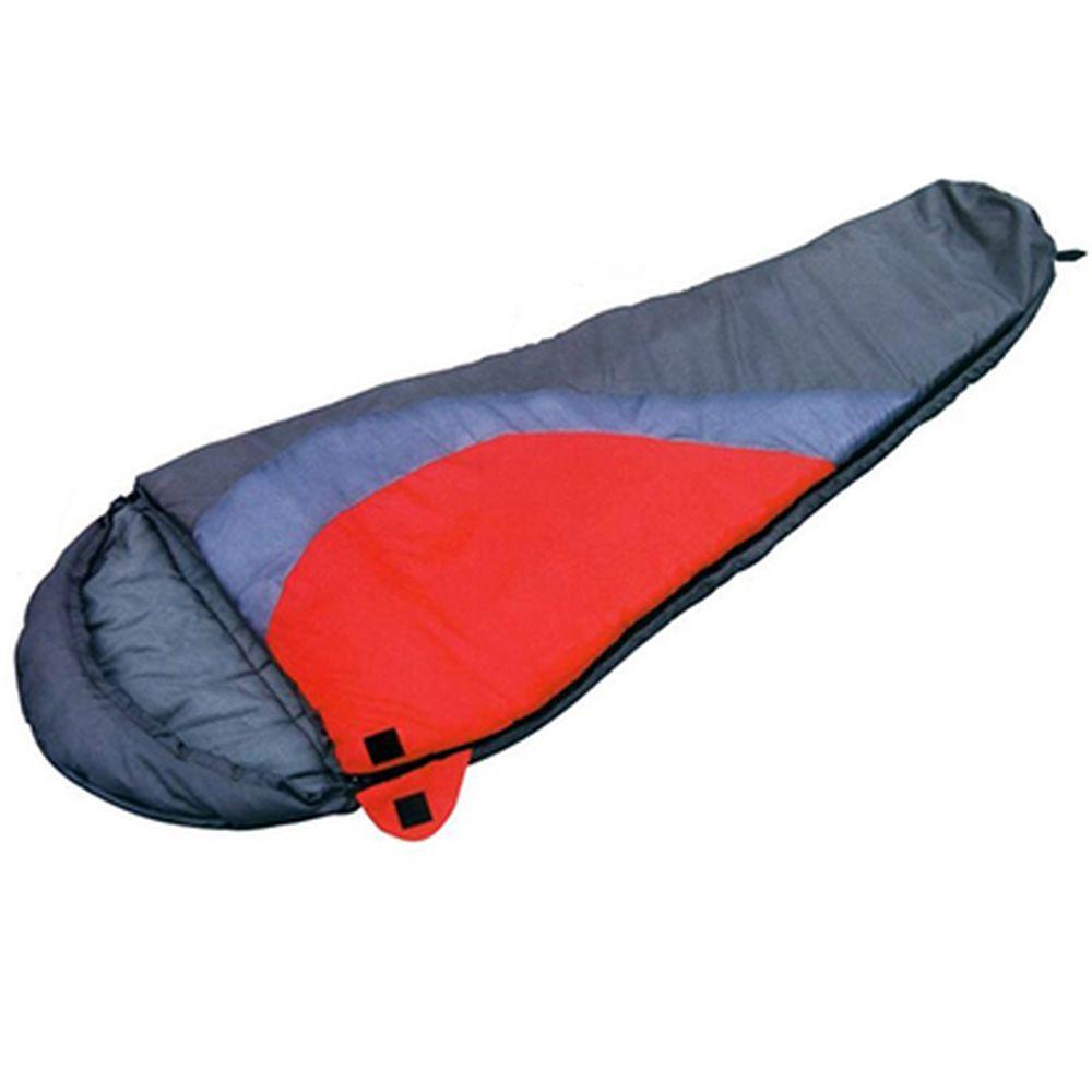 Спальник-кокон 230x80x50см (190Т w/r pol, х/ф 300г/м), серый, черный, LBS-103