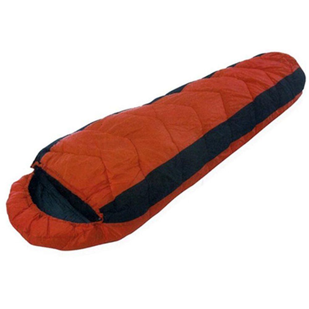 Спальник-кокон 230x80x50см (190Т w/r pol, х/ф 350г/м двойной), коричневый, LBS-106