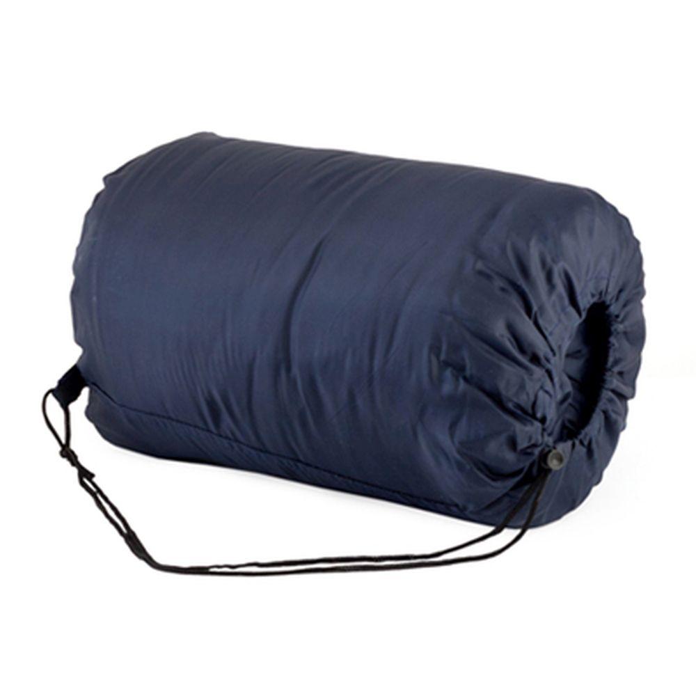 Спальник-одеяло 190x75см (190Т w/r pol, х/ф 250г/м, подкл. х/б), синий, LBS-207