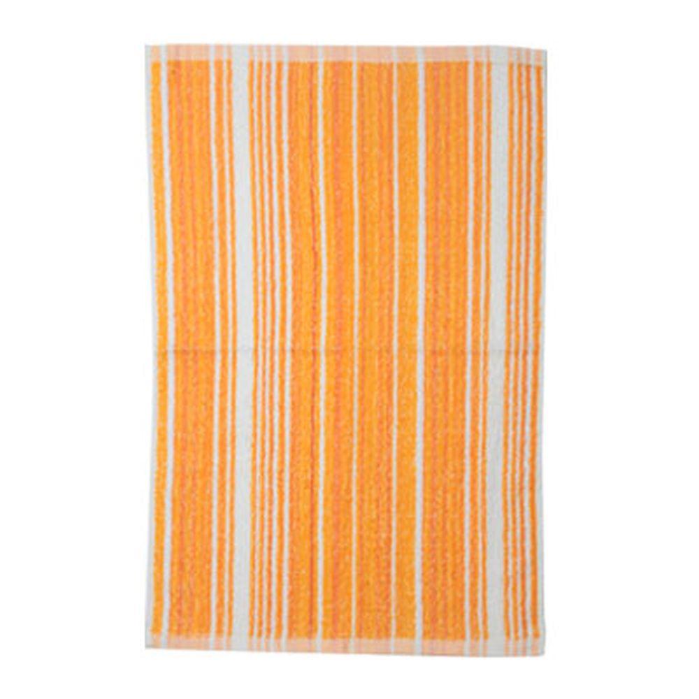 VETTA Полотенце банное, 100% хлопок, 40x60см, Волна оранжевое
