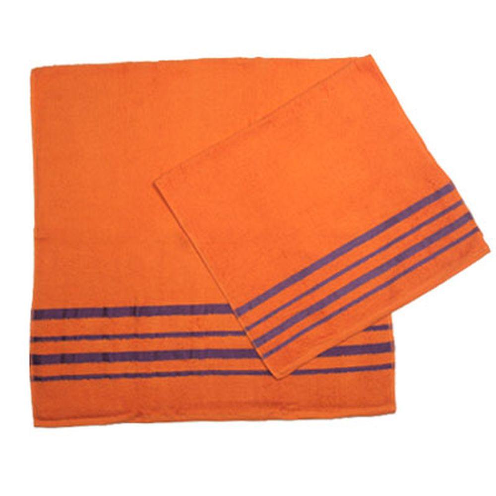 VETTA Набор полотенец 2шт банных 50x90см + 70x140см, Оранж