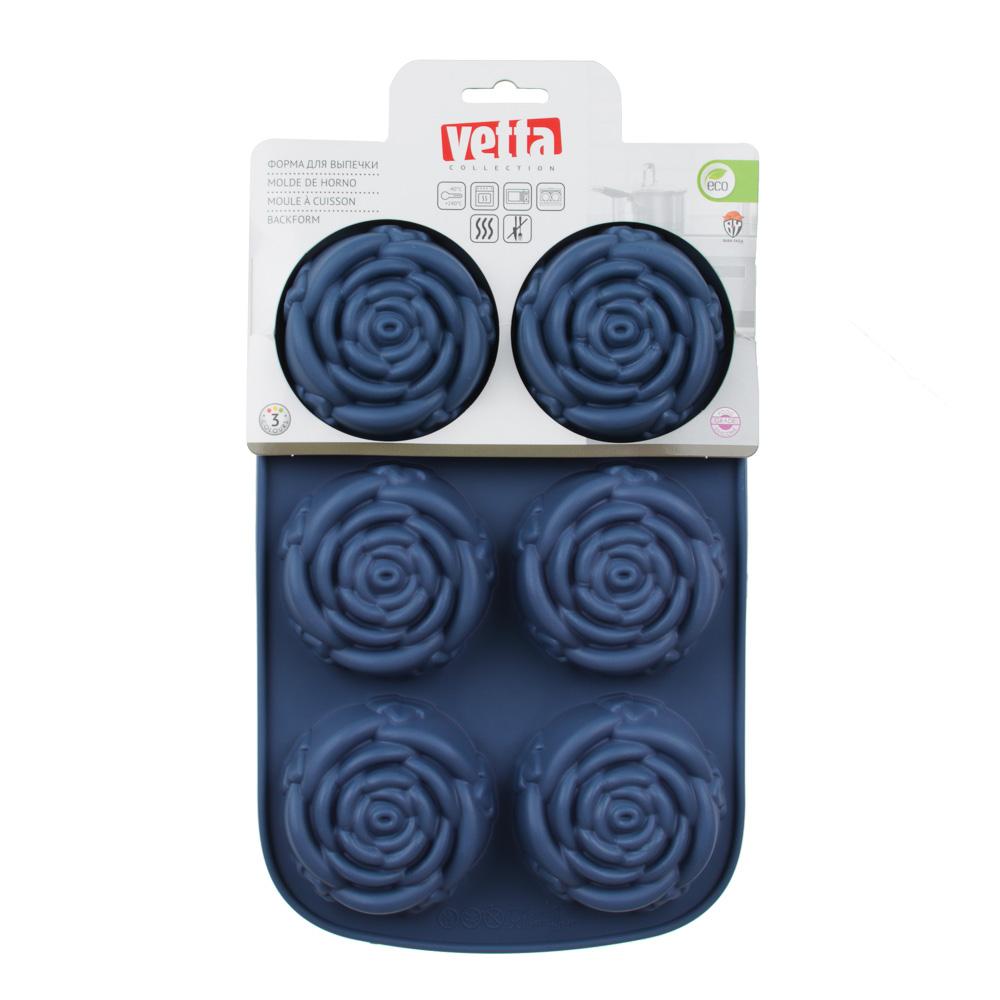 Форма для выпечки VETTA Розы, 28x18x3 см, силикон