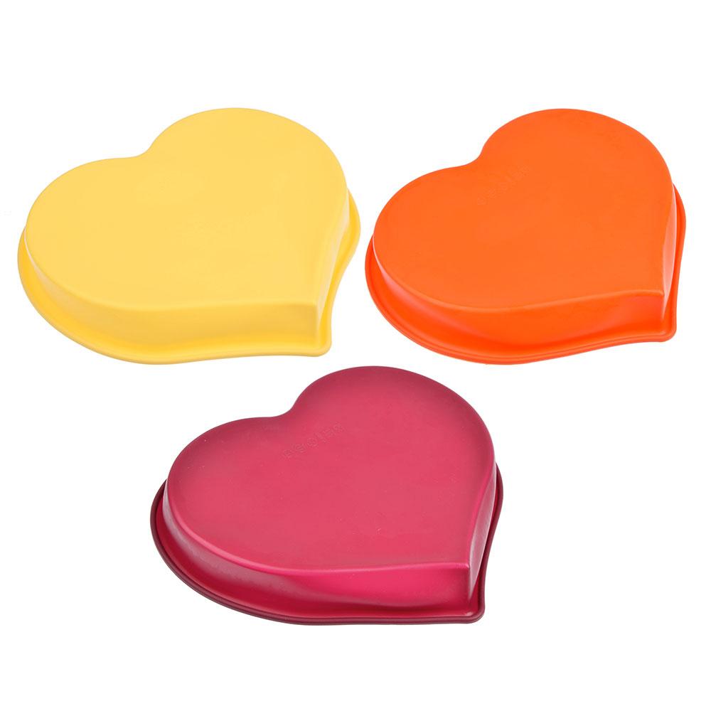 """Форма для выпечки, силикон, 25x22x4,5 см, VETTA """"Сердце"""""""