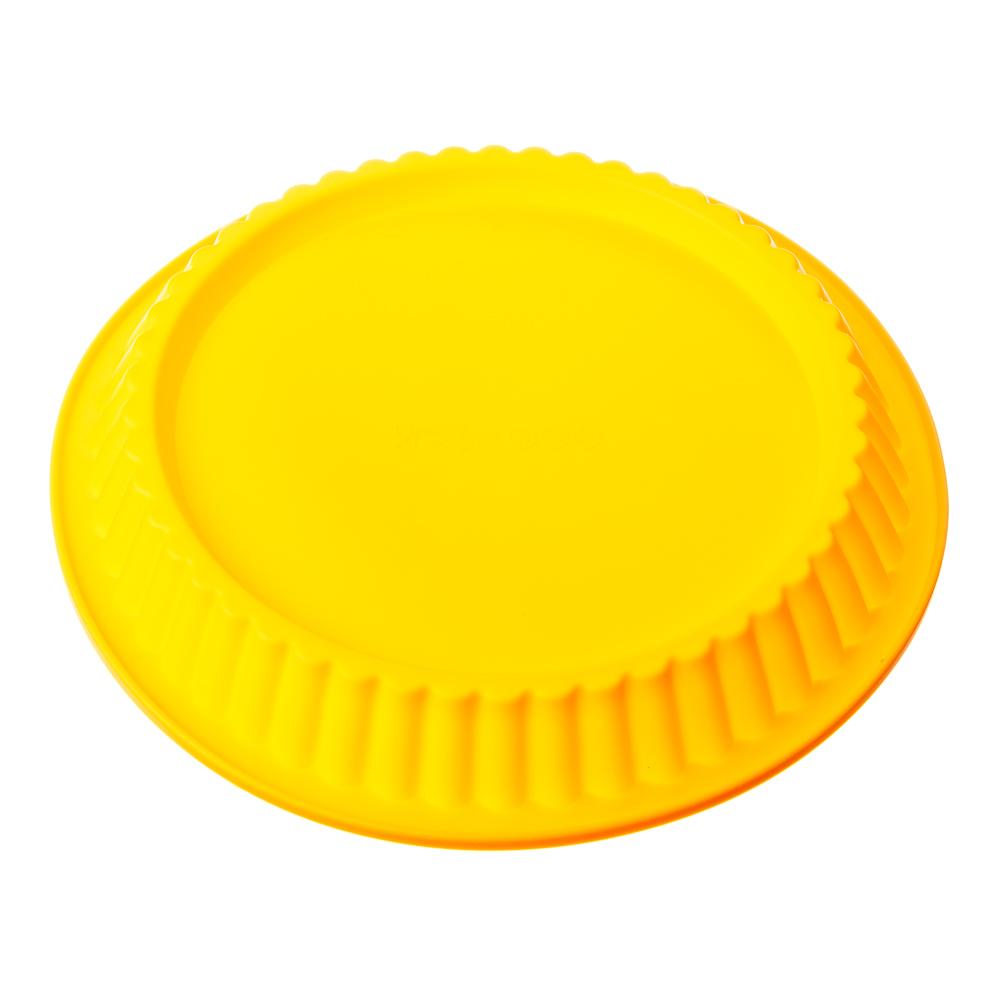 VETTA Форма силиконовая гофрированная d27x3см, 4 цвета, HS-004