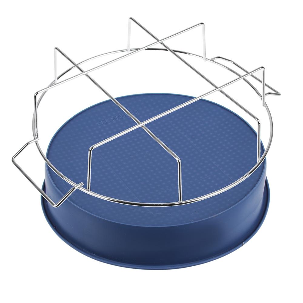 Форма для выпечки на подставке силикон, 25x6 см, силикон