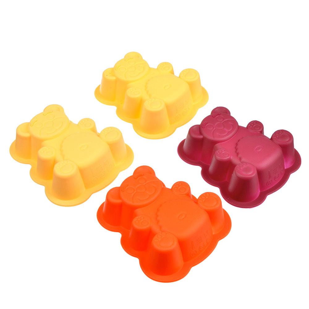 Набор форм для выпечки VETTA Медвежонок, 4 шт, 9.5х9х3 см
