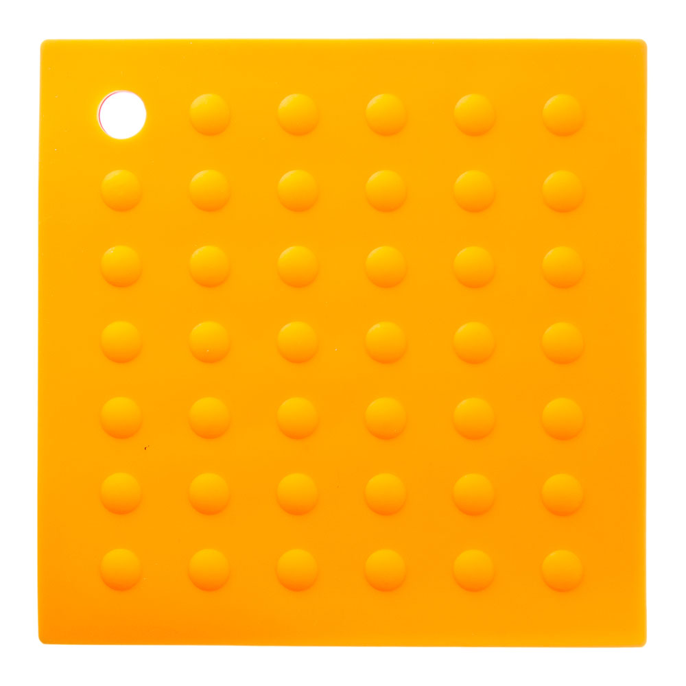 Подставка под горячее термостойкая квадратная, силикон, 17,5x17,5 см, VETTA