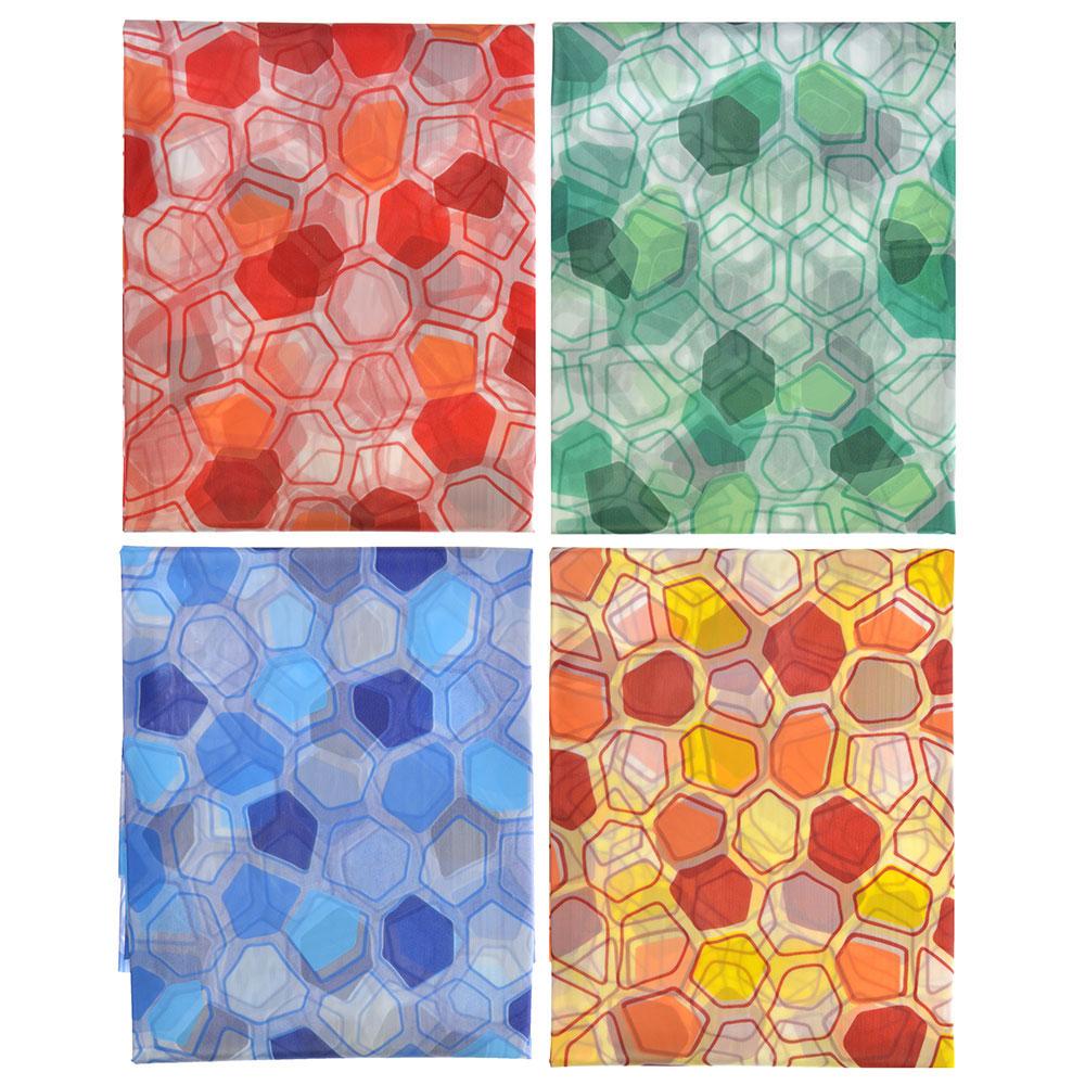 VETTA Шторка для ванной, ПЕВА, 180x180см, Мозаика, 4 цвета