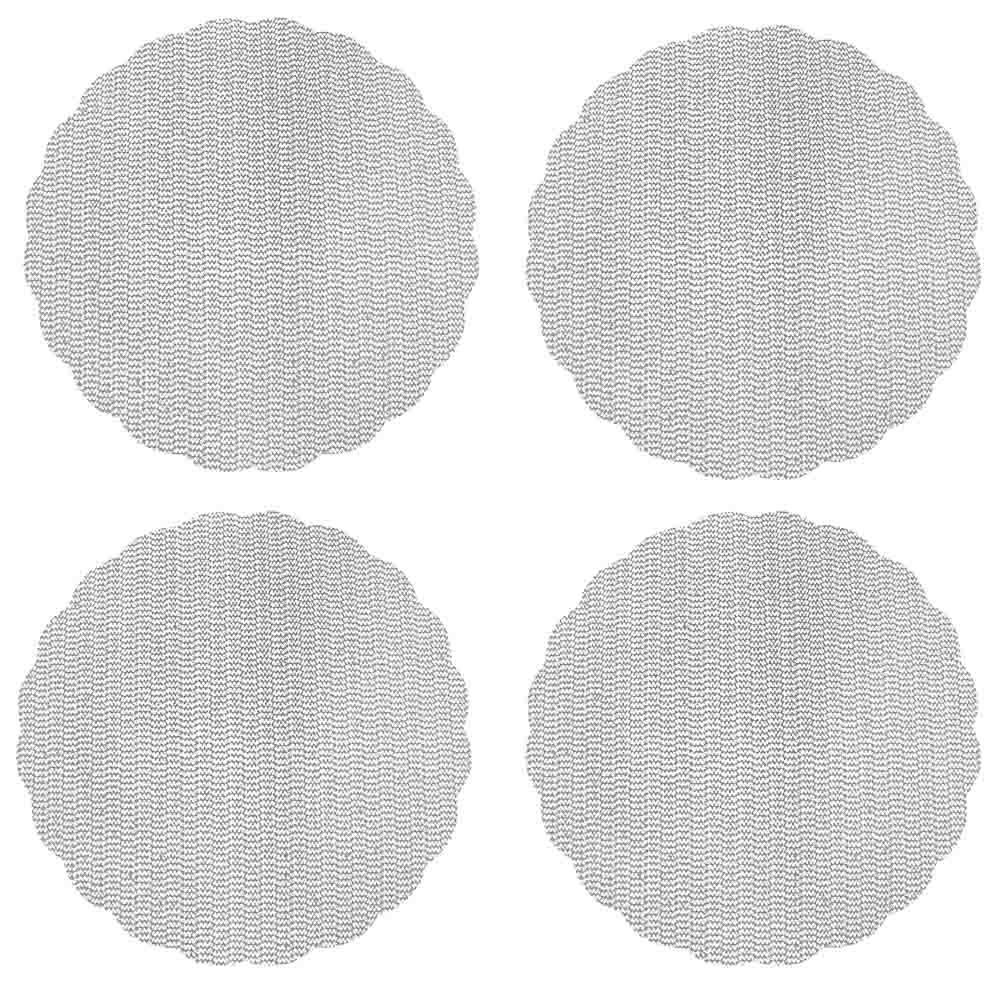 Набор противоскользящих салфеток 4шт., ПВХ, d32см, 4 цвета, VETTA