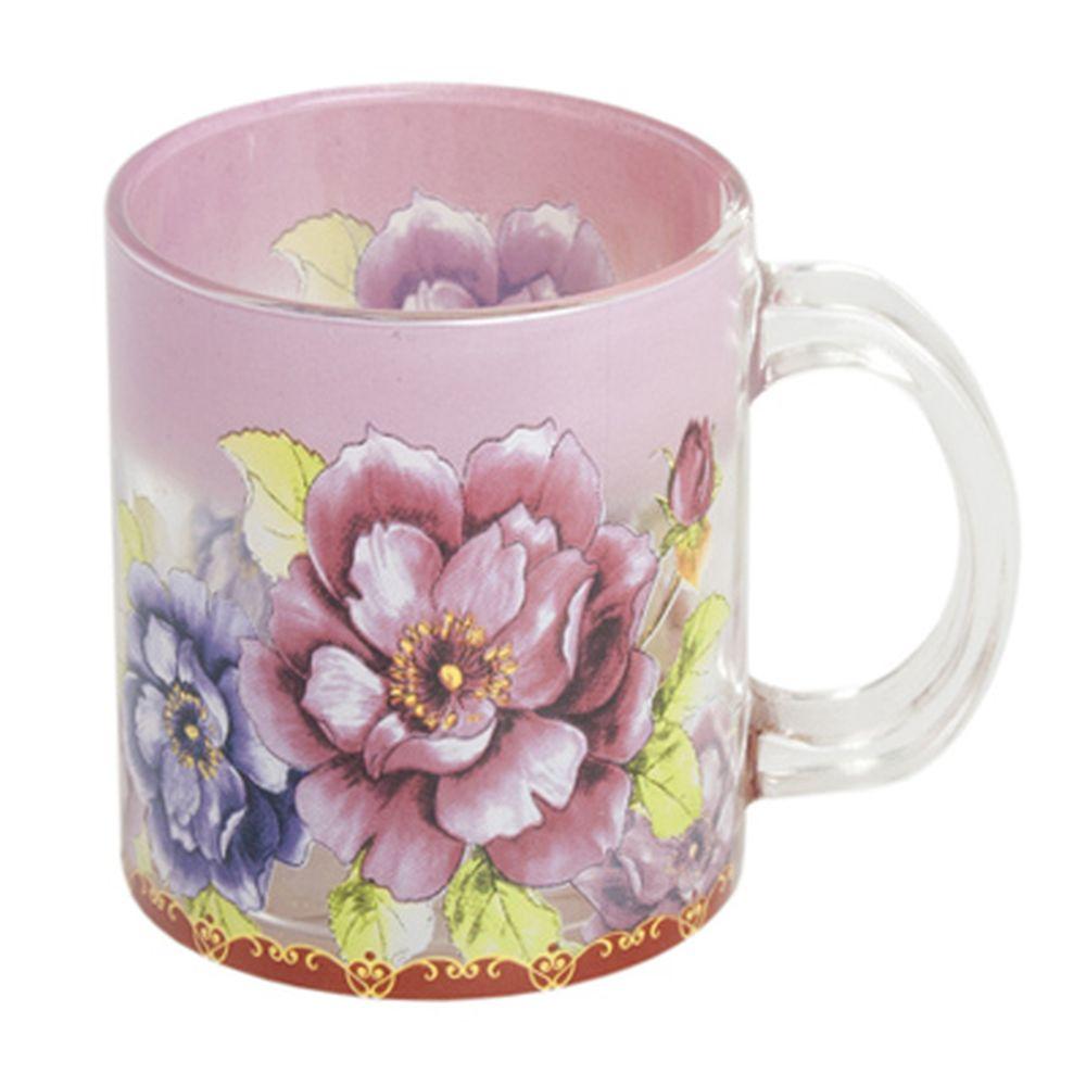 """VETTA Кружка стеклянная, 350мл, """"Дикие розы"""", HO1851"""