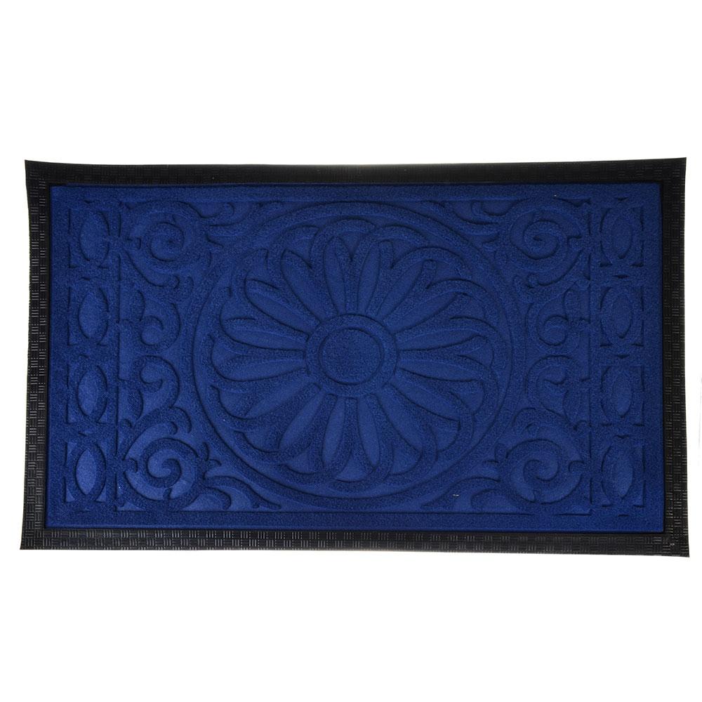 VETTA Коврик ворсовый с резиновой каймой, 45x75см, 4 цвета, CR031