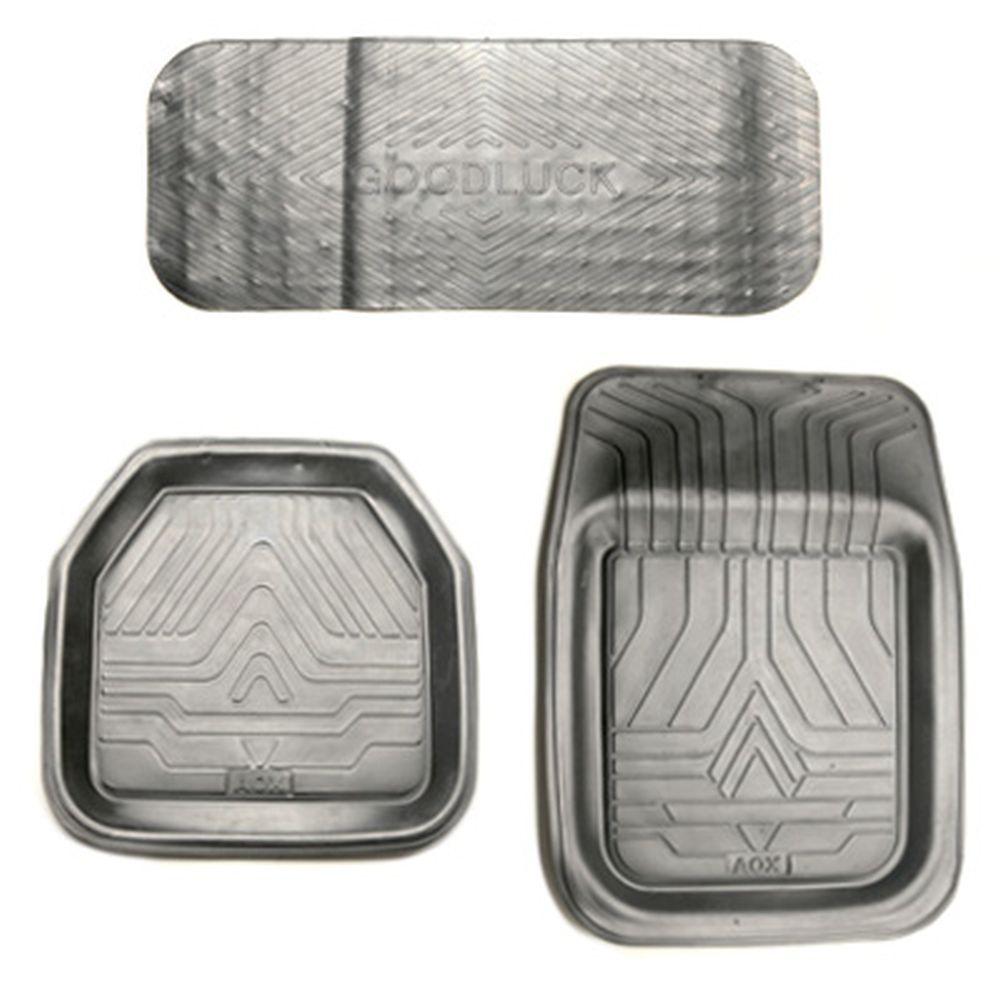 Коврики автомобильные универсальные 5шт, резина, R05-BK, черный