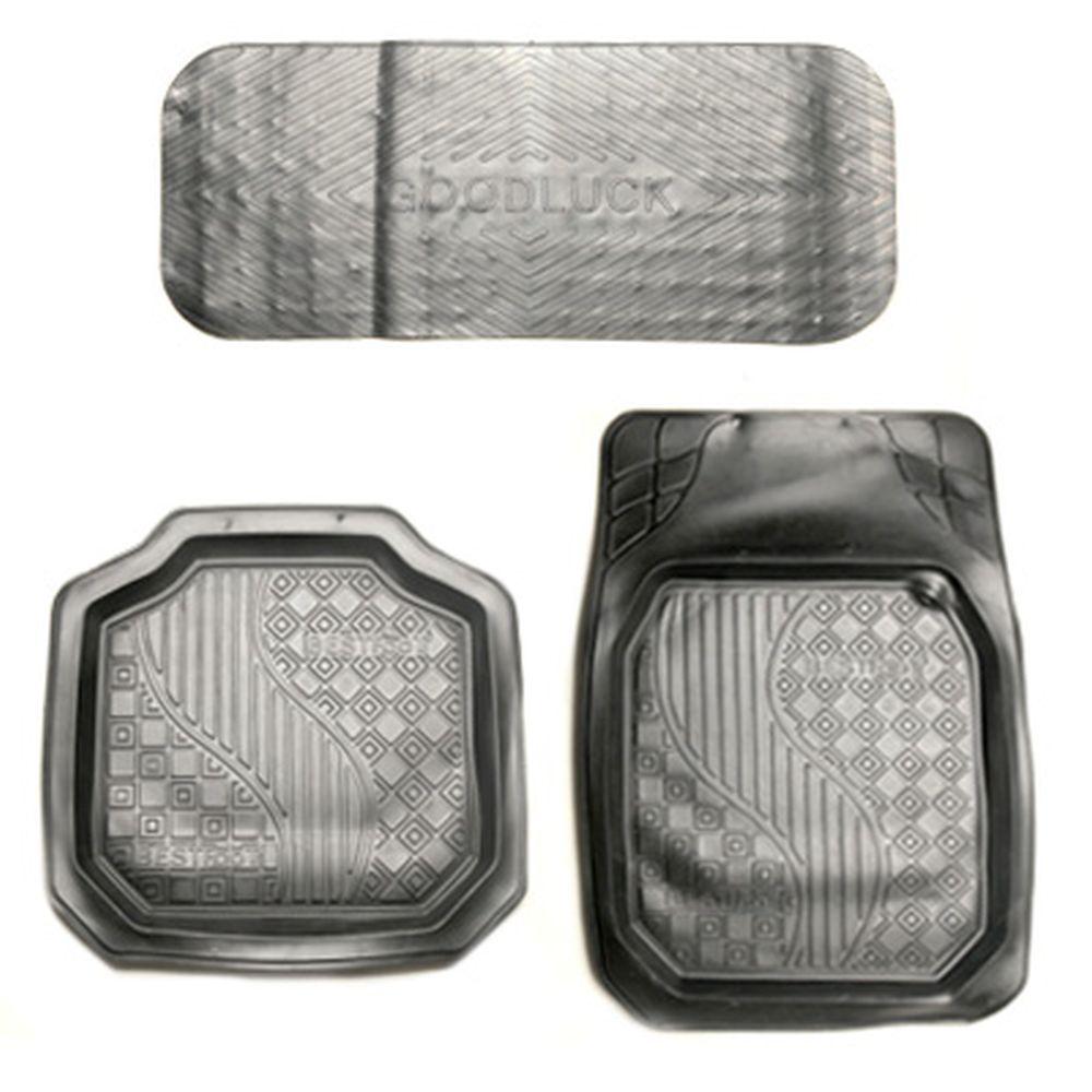 Коврики автомобильные универсальные 5шт, резина, R20-BK, черный