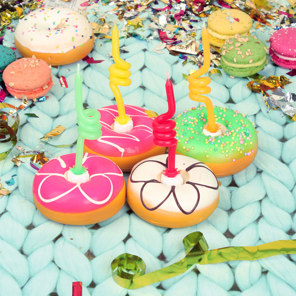 Свечи для торта витые 4 шт, 4 цвета
