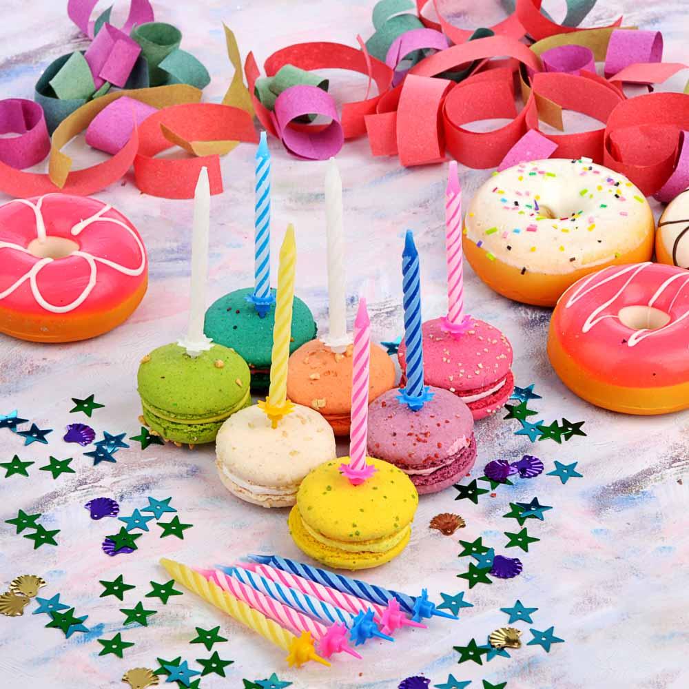 Свечи для торта 12 шт, 4 цвета