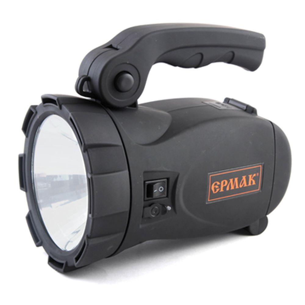ЕРМАК Фонарь аккумуляторный LED АСФ-С101СБ, 2х0,8Вт (4В, 3А/Ч), 12/220В, с солн батареей