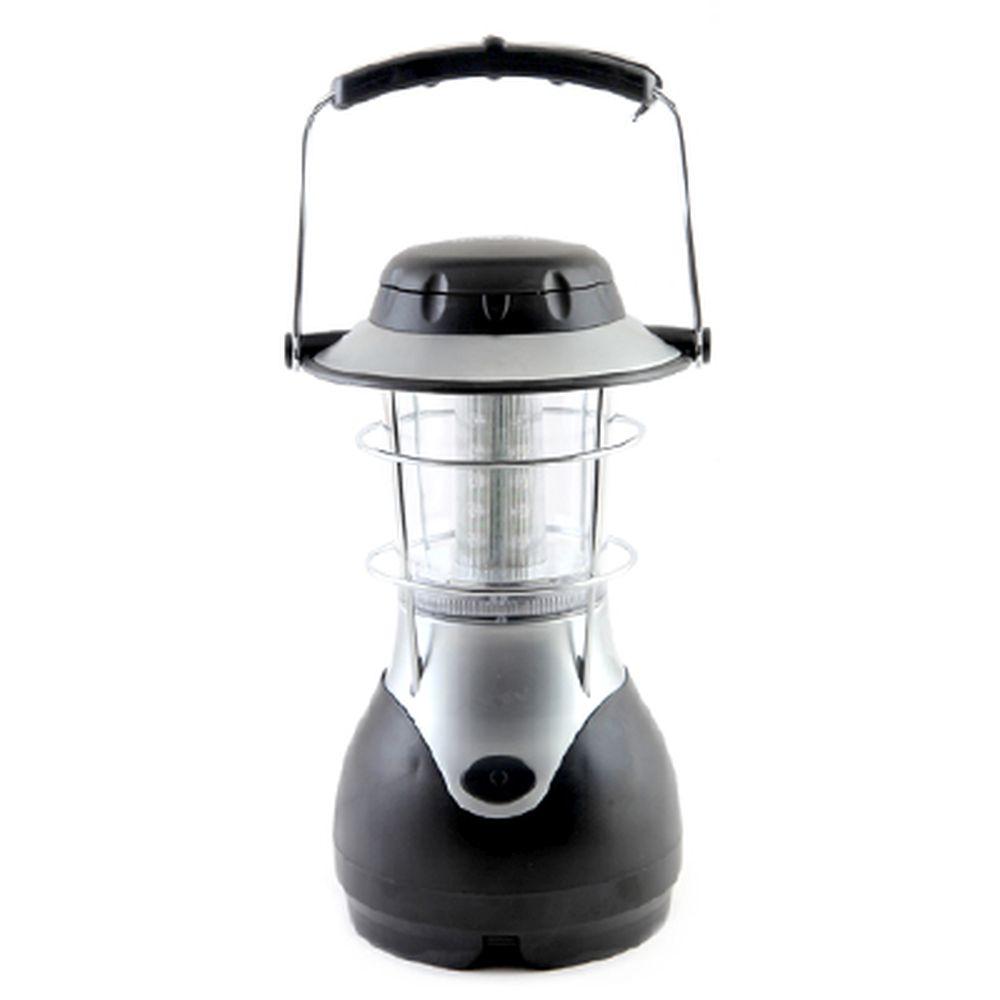 ЕРМАК Фонарь аккум. кемпинг LED АСФК-С24СБД, 2х0,3Вт (4В,3А/Ч) 12/220В, с динамоподзар. и солн.батар