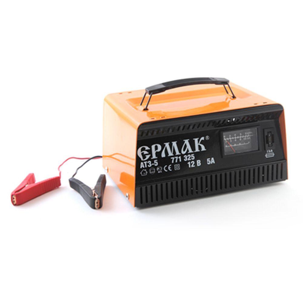 ЕРМАК Зарядное устройство трансформаторное автомат АТЗ-5 (max 5A/12V), металл корпус