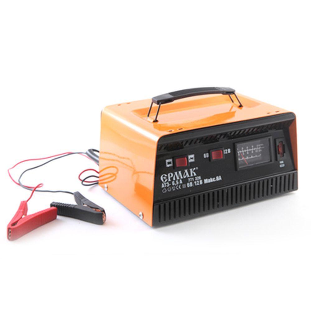 ЕРМАК Зарядное устройство трансформаторное автомат АТЗ-6,5 (max 6,5A/12V, 8A/6V), металл корпус