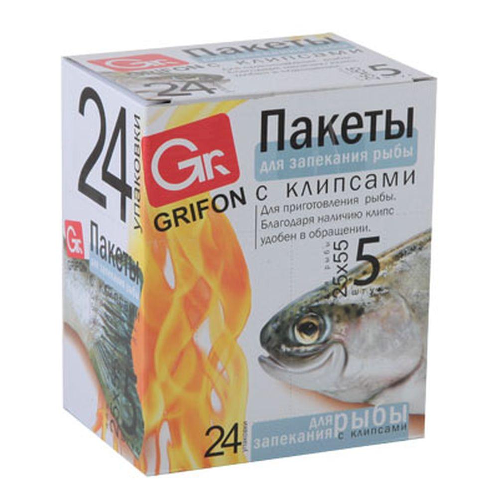 GRIFON Пакеты для запекания рыбы 5шт, 25x55см, шоу-бокс, 101-210