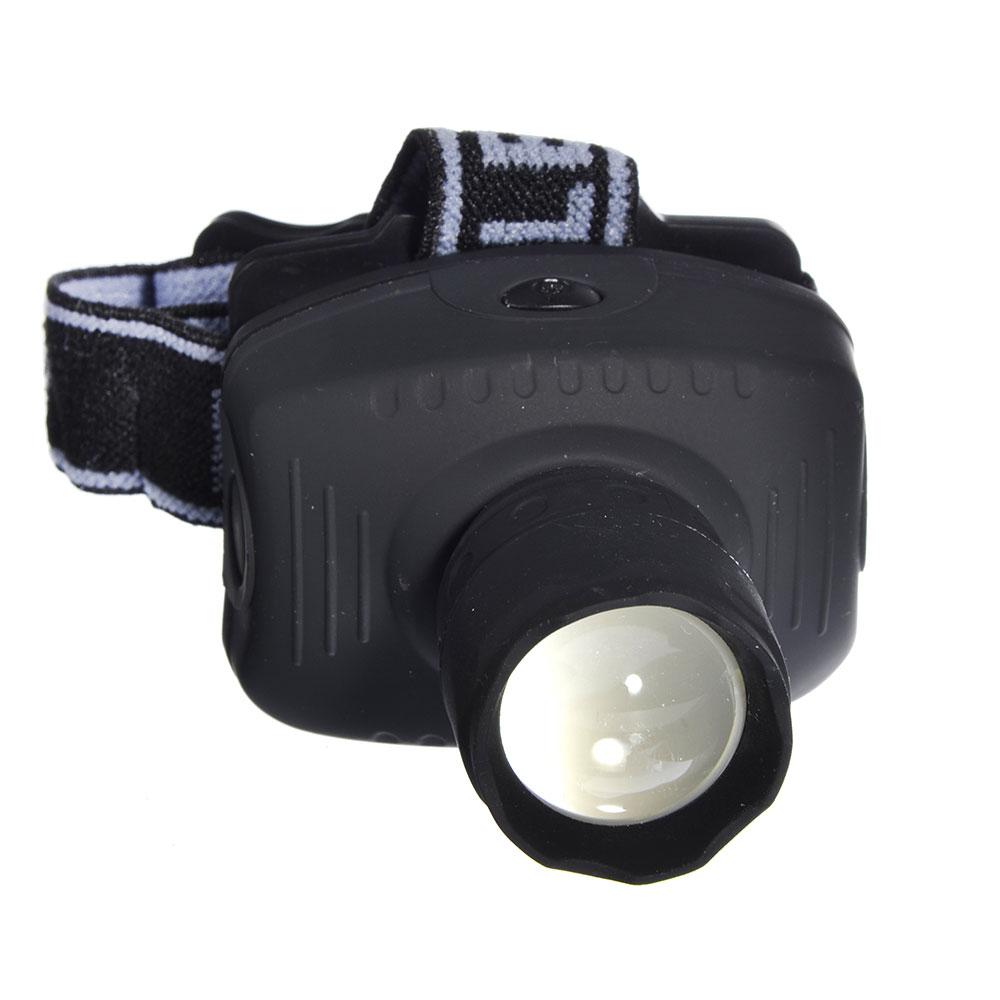 ЧИНГИСХАН Фонарь налобный с фокусировкой 3 Вт LED, 3xAAA, резинопластик, 7х5см