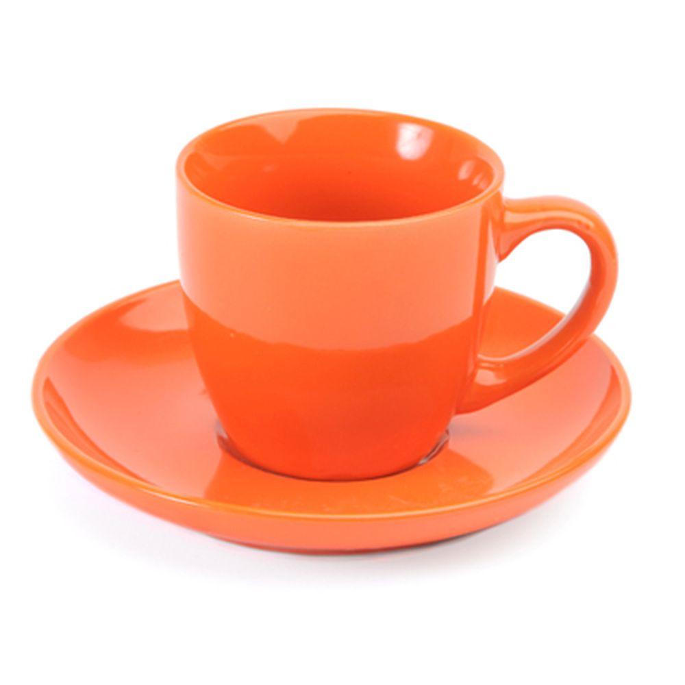 VETTA Атон Чайный набор 2 пр. оранжевый керамика 220мл