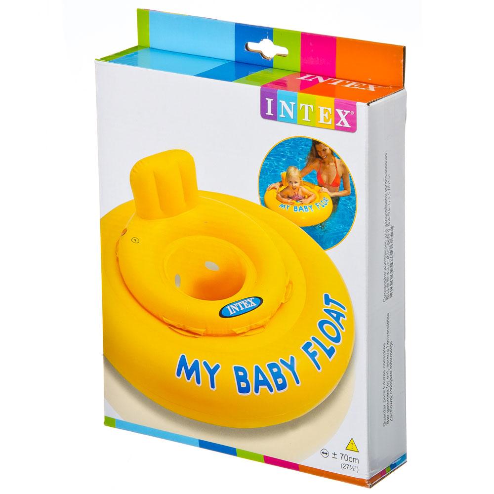 Круг для малыша с сиденьем, 70 см, возраст от 1 до 2 лет, INTEX, 56585
