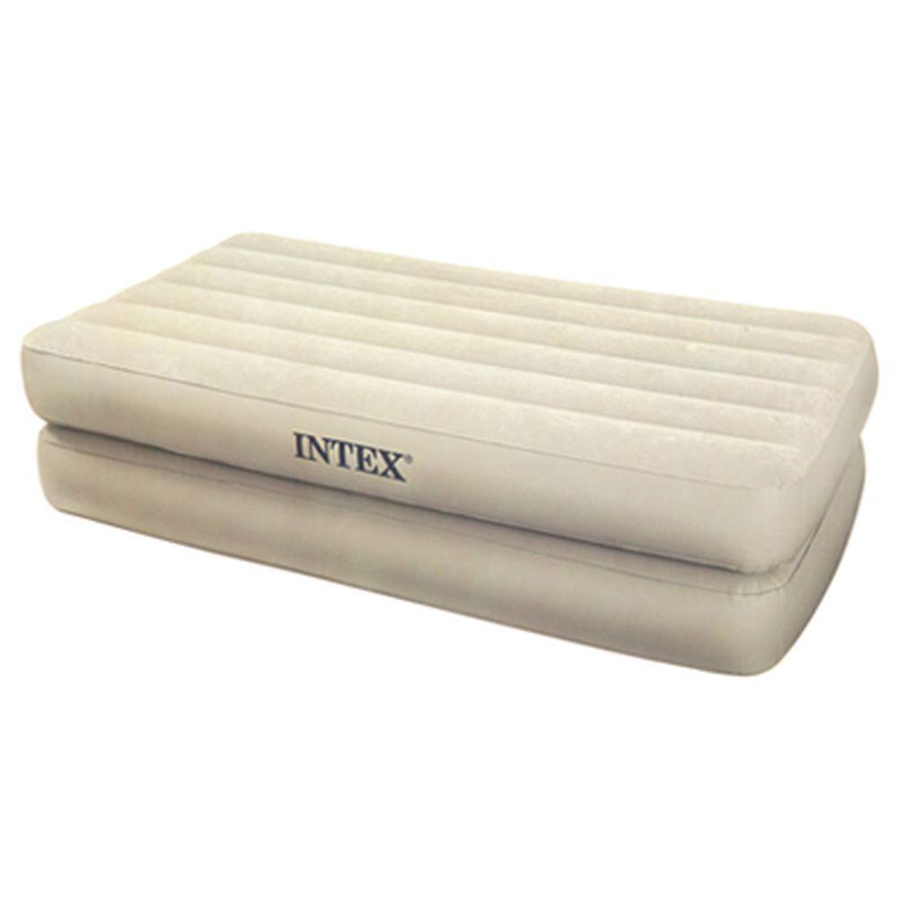 INTEX Кровать флок Comfort, встр.элнасос, 99*191*48 см, коробка с ручкой,сумка, 66708
