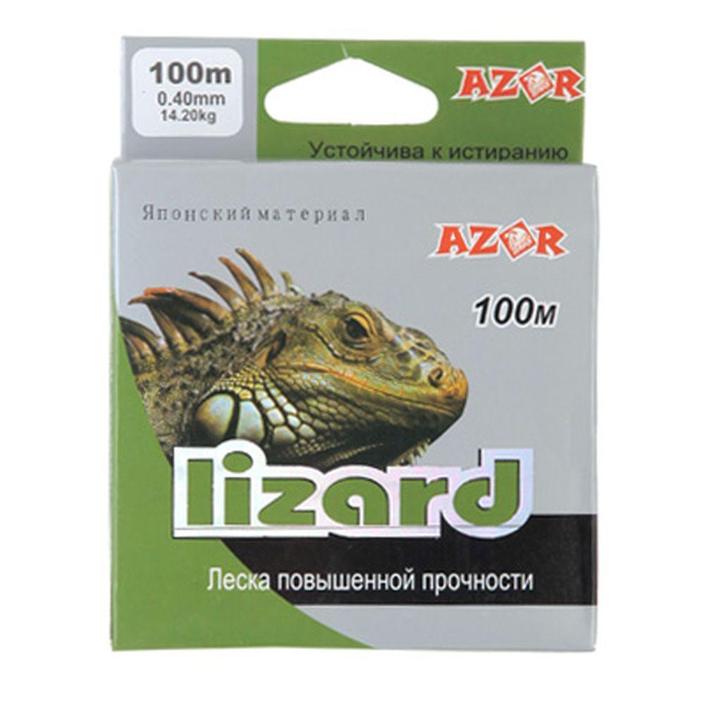 AZOR Леска lizard 0,18ммх100м серая