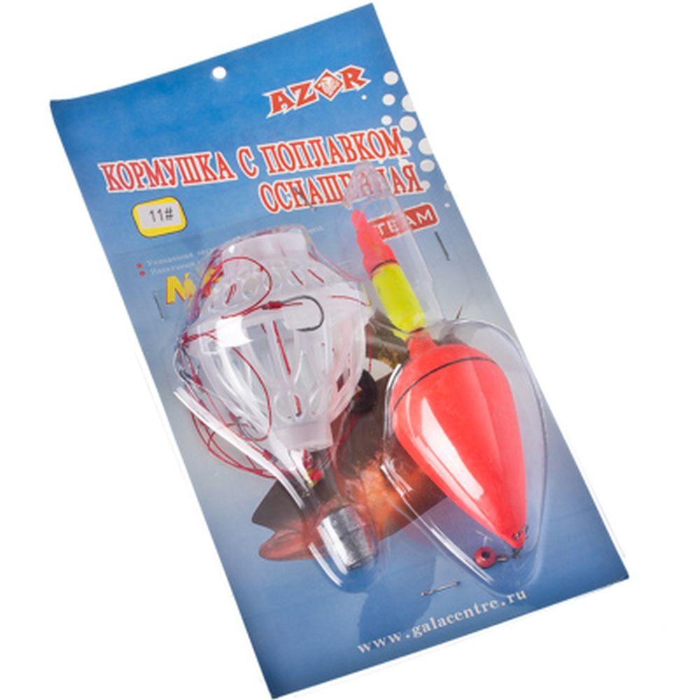 AZOR Кормушка с поплавком и грузилом 25г, металл, пластик, 11