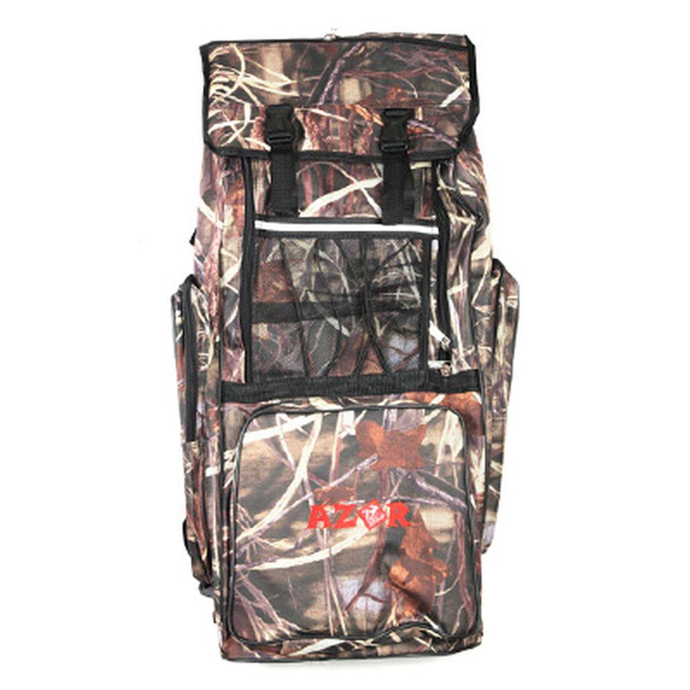 AZOR Сумка-рюкзак рыбака, полиэстер, DS-70л, 420 Den, камуфляж-ветки