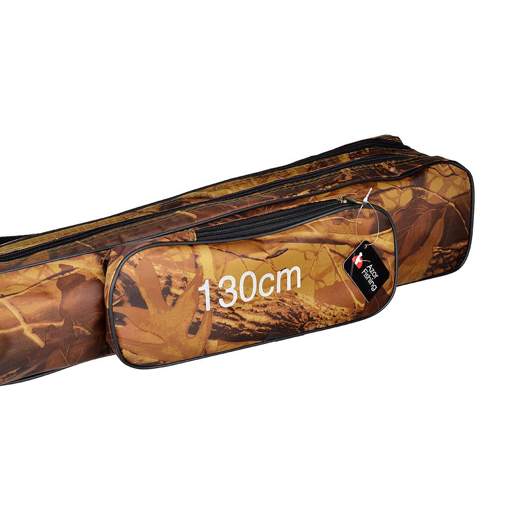 AZOR FISHING Чехол для удочек, полиэстер, c карманом, 2 отсека, 130см, 600 Den