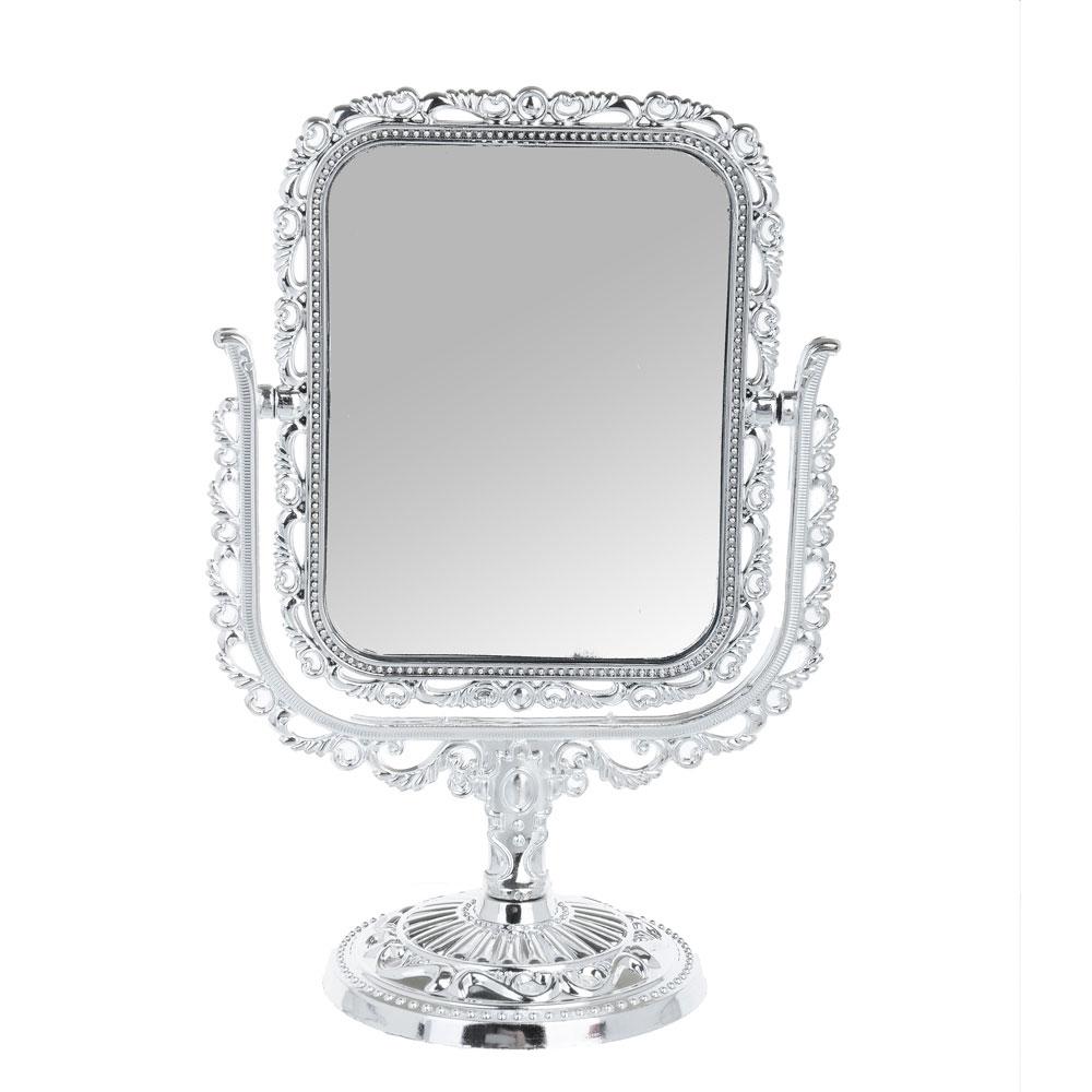 Зеркало настольное ажурное, пластик, 18х9,5 см, 3 цвета