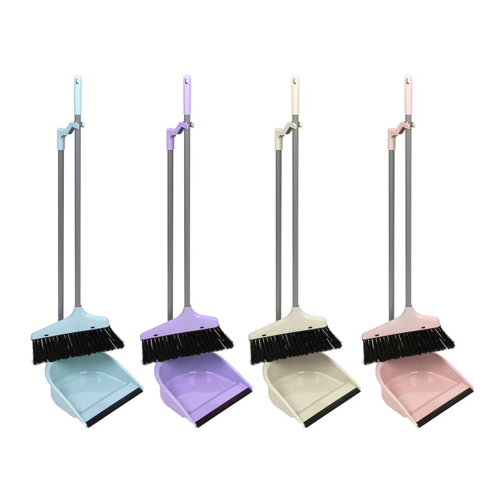 Набор для уборки: щетка, совок, пластик, металл, ПВХ, 2 ручки, длина 62 см, VETTA