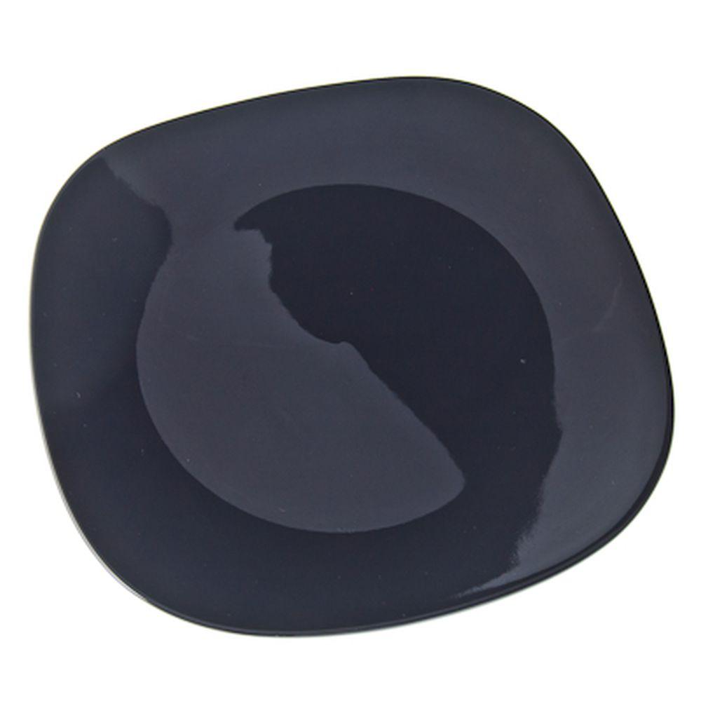 VETTA Бау Тарелка подстановочная квадратная черная керамика 28,5см