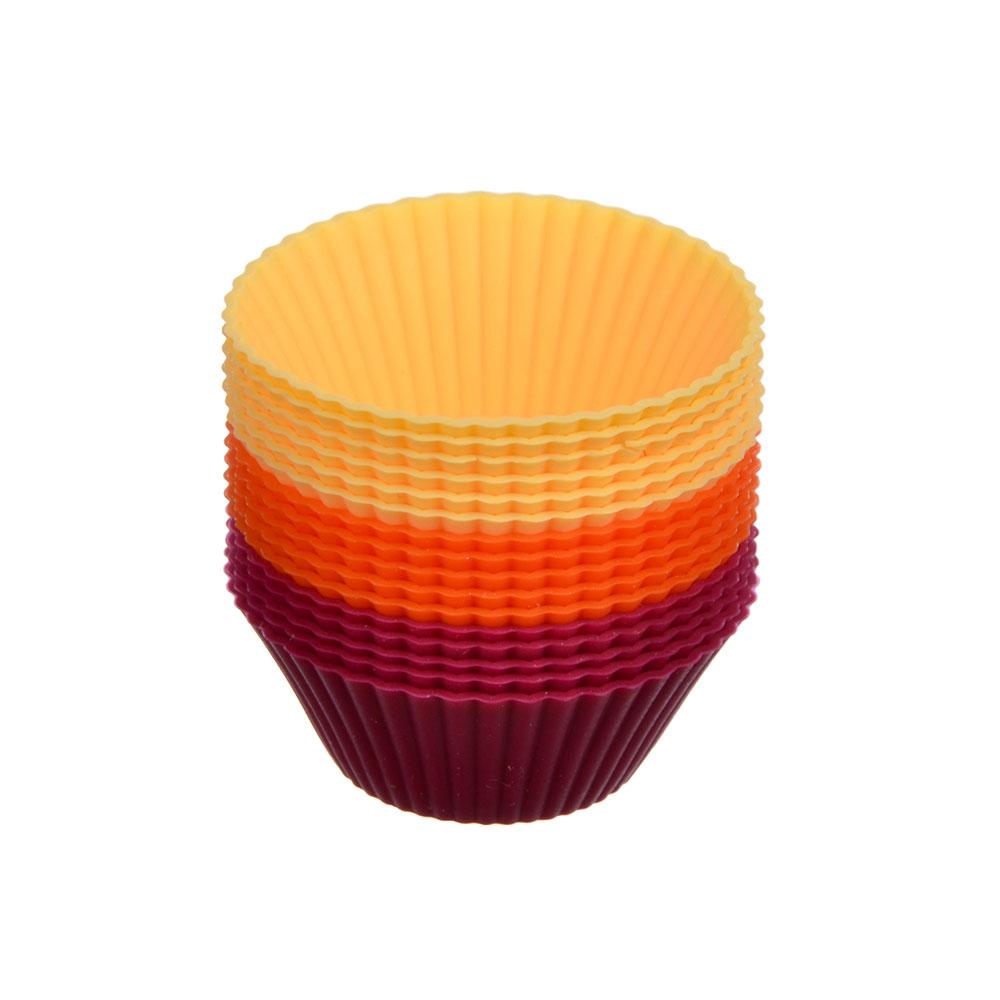 """Набор форм для выпечки, 4.5х2.2 см, 16шт, силикон, VETTA """"Мини Кекс"""""""