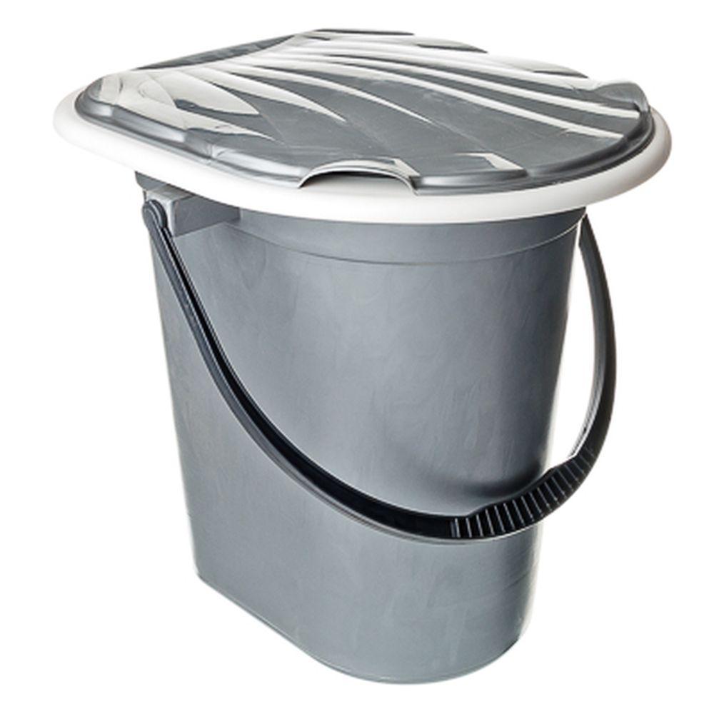 Ведро-туалет с крышкой, 18 л, Мегапласт